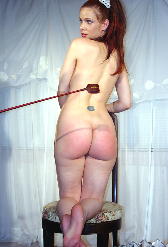 Nice position... spank riding crop bare bottom one the best